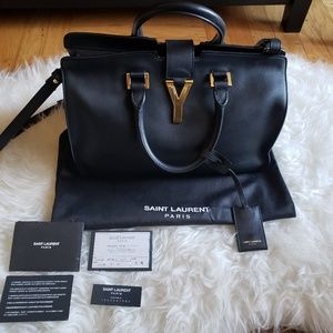 Saint Laurent Classic Y small Cabas leather Tote